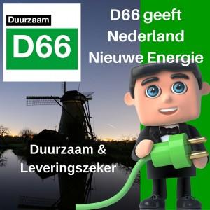 D66 geeft Nederland Nieuwe Energie