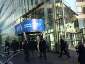 Ingang Europese Commissie Brussel
