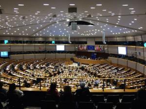 Het Europees Parlement in Brussel
