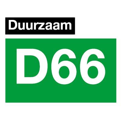 Logo D66 duurzaam